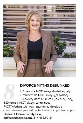 Lisa Duffee Fivorce Myths Debunked- as seen in Modern Luxury Magazine